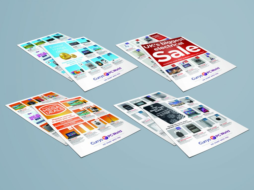 Freelance Artworker - Selection of flyers for Currys and PC World