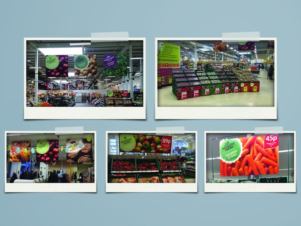 Freelance Artworker - Selection of produce POS in supermarket
